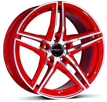 Borbet XRT Racetrack Red leštený
